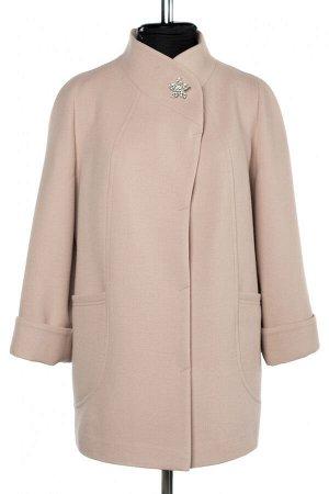 01-10238 Пальто женское демисезонное Пальтовая ткань бежевый