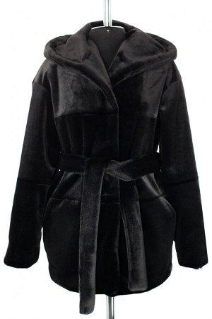 01-10234 Пальто женское демисезонное Искусственный мех черный