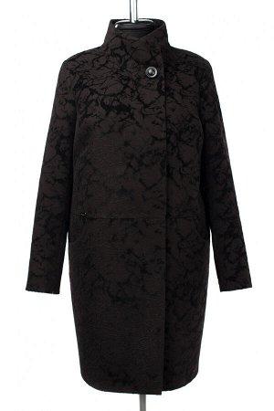 02-3019 Пальто женское утепленное Пальтовая ткань черный