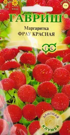 Маргаритка Фрау красная (Код: 86992)