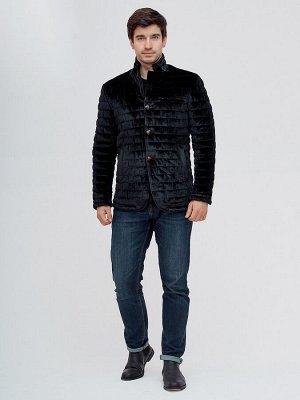Куртка велюровая классическая Valianly черного цвета 93351Ch