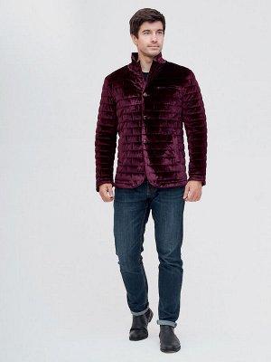 Куртка велюровая классическая Valianly фиолетового цвета 93351F