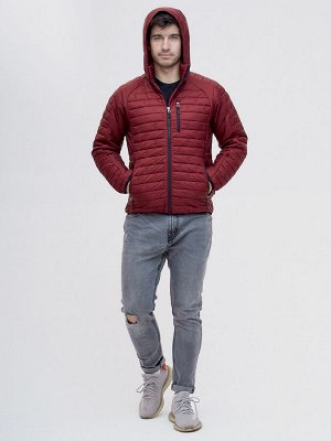 Куртка стеганная Valianly бордового цвета 93349Bo