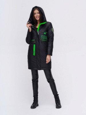 Куртка удлиненная  TRENDS SPORT черного цвета 22297Ch