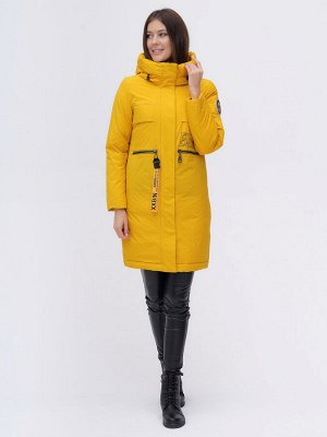Куртка удлиненная  TRENDS SPORT горчичного цвета 22297G