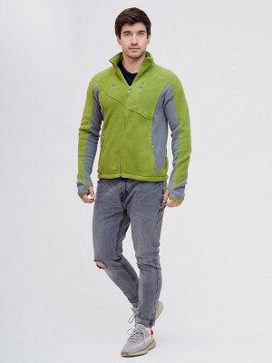 Толстовка  мужская Valianly зеленого цвета 92600Z