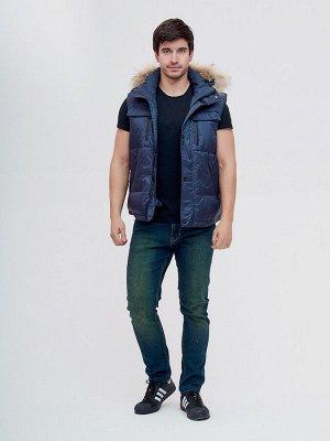 Куртка и безрукавка Valianly темно-синего цвета 2064TS