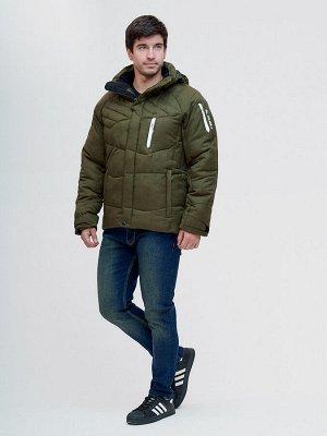 Куртка зимняя Valianly цвета хаки 93139Kh