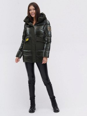 Куртка зимняя TRENDS SPORT болотного цвета 22291Bt