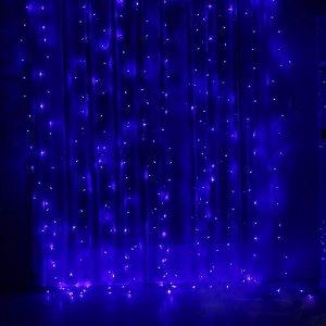 Гирлянда Дождик 1.5х1.5, Синяя