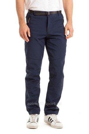 Мужские брюки-виндстопперы на флисе Azimuth A 66 (БР) Темно-синий