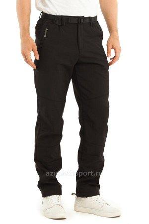 Мужские брюки-виндстопперы на флисе Azimuth А 66 (БР) Черный