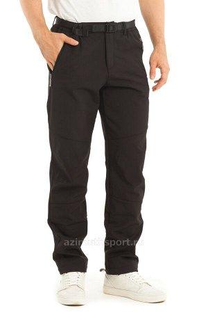 Мужские брюки-виндстопперы на флисе Azimuth A 66 Черный