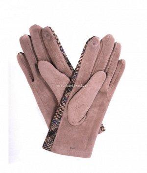 7.636-2 ML экозамша плис сенсорные жен. Перчатки