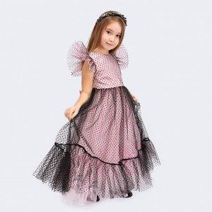 Платье Соль&Перец/Цвет: розовый-черный