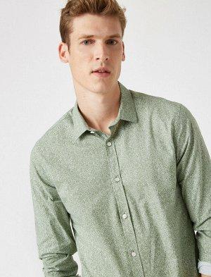 рубашка Материал: %97  Хлопок, %3  Эластан Параметры модели: рост:: 188 cm,грудь: 98,талия: 82,бедра: 95 Надет размер: S