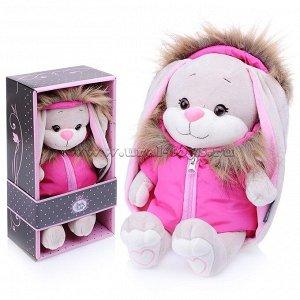 Зайка Jack&Lin в розовой зимней куртке, 25 см, в коробке