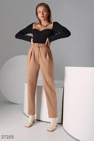 Бежевые брюки из смесовой шерсти