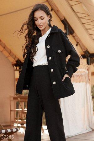 Куртка-рубашка черного цвета