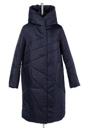 05-1930 Куртка женская зимняя (синтепон 300) Плащевка темно-синий