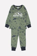 Пижама(Осень-Зима)+boys (темно-оливковый, кемпинг)