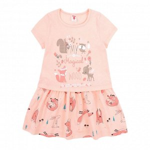 К 5511 Платье для девочки (нежный персик)