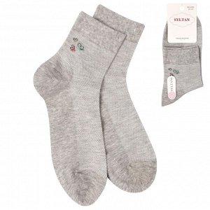 Носки Syltan женские/Цвет: серый меланж