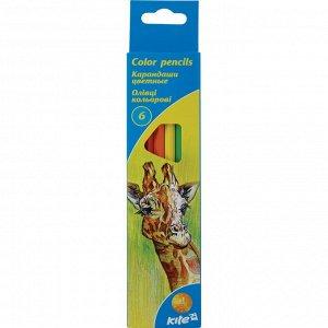 Карандаши цветные Kite, 6 цветов K15-050
