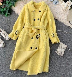 Пальто,желтый