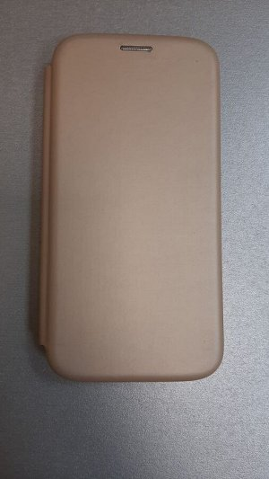 Чехол книжка Samsung G980F Galaxy S20 2020 Flip SoftTouch (золотой)