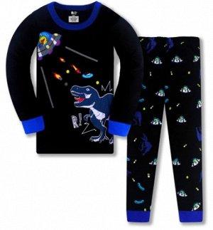 Пижама Пижама трикотаж. По отзывам маломерит, можно взять на 1 размер больше.  3Т(95 см) 4Т(100см) 5Т(110 см) 6Т(120 см) 7Т(130 см) 8Т(140 см)
