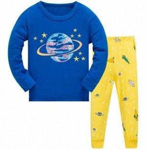 Пижама Пижама. По отзывам маломерит, можно взять на 1 размер больше. 2Т(90 см) 3Т(95 см) 4Т(100см) 5Т(110 см) 6Т(120 см) 7Т(130 см)