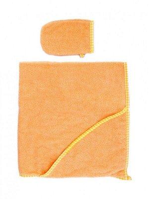 Пеленка-полотенце для купания с варежкой беж.