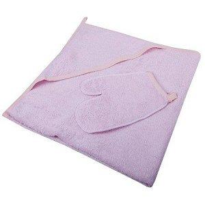 Пеленка-полотенце для купания с варежкой роз.