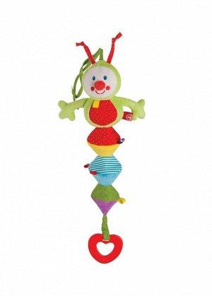 Подвесная игрушка-растяжка ГУСЕНИЦА HAPPY BABY