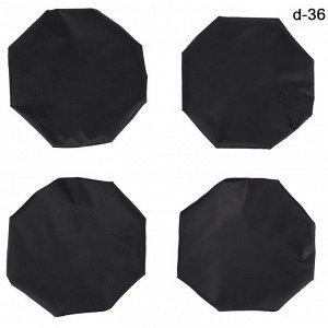 *Чехол на колеса Leader Kids, d=23 см, 4шт, цвет черный