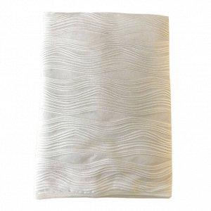 """Одеяло-плед кружевной """"Волны"""", разм. 95*95, без наполнителя , подкладка 100% хлопок Молочный"""