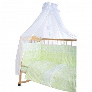 *GulSara Комплект в кроватку 7 пр Бязь Зеленый