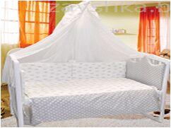 КПБ 3 предм. комплект постельного белья в кроватку Инфанты серый