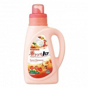 """Жидкое средство для стирки белья """"Top"""" («Сладкая гармония» / длительный аромат) бутылка 850 гр."""