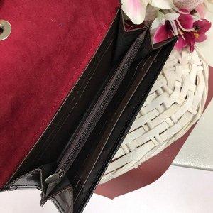Женский кошелек People из матовой эко-кожи цвета тёмный индиго