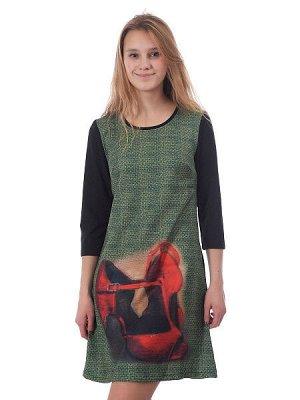 Платье - зеленый цвет