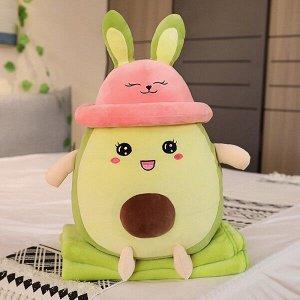 Авокадо плюшевая игрушка-подушка-плед