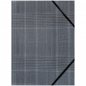 Папка на резинках Axent 1509-17-A, А4+, Tartan Gray
