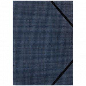 Папка на резинках Axent 1509-19-A, А4+, Tartan Blue