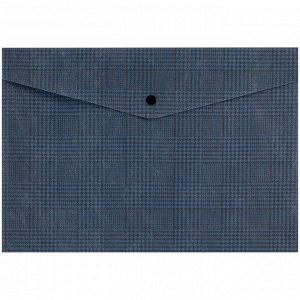 Папка на кнопке Axent 1495-19-A, А4+, Tartan Blue
