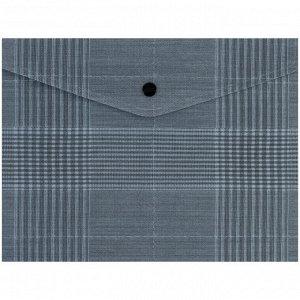 Папка на кнопке Axent 1496-17-A, А5+, Tartan Gray