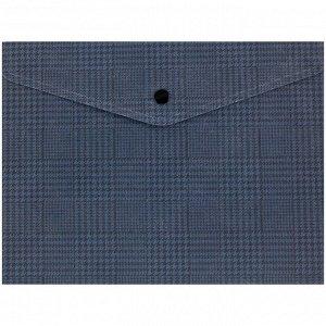 Папка на кнопке Axent 1496-19-A, А5+, Tartan Blue
