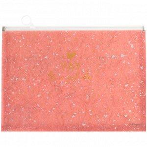 Папка на молнии zip-lock, А5+, Shade Coral