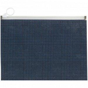 Папка на молнии zip-lock, А5+, Tartan Blue